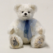 Swan Bear Schloss Neuschwanstein without the little mohair swan in the arm 35 cm Teddy Bear by Hermann-Coburg