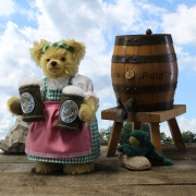 Oktoberfest-Beer-Waitress 35 cm Teddy Bear by Hermann-Coburg