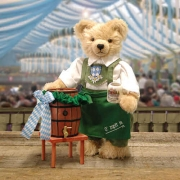 Oktoberfest Wiesnwirt Ozapft is  Teddy Bear by Hermann-Coburg