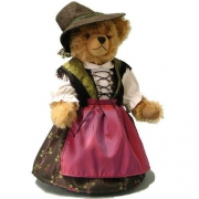 Old Bavarian Girl Teddy Bear by Hermann-Coburg