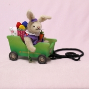 Easter Mobile with Rabbit Girl 20 cm Teddy Bear by Hermann-Coburg
