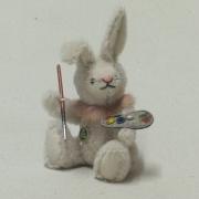 Ein kleiner Hasen-Maler 19 cm Teddy Bear by Hermann-Coburg