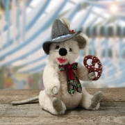 Little Oktoberfest Mouse Teddy Bear by Hermann-Coburg