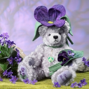 Violet Teddy Bear by Hermann-Coburg