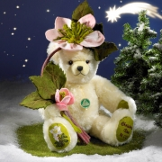 Christrose  Christmas Rose Teddy Bear by Hermann-Coburg