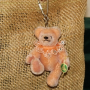 Teddy-Pendant apricot Miniature- Mohair-Teddy Piccolo 11 cm Teddy Bear by Hermann-Coburg