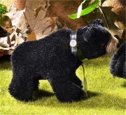 Classic Miniature Black Bear Teddy Bear by Hermann-Coburg