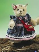 Miniatur Steh-Katze Mädchen Teddy Bear by Hermann-Coburg