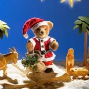 Miniatur Steh-Bär Santa Teddy Bear by Hermann-Coburg