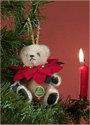 Poinsettia Teddy Bear by Hermann-Coburg