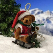 Jingle Santa Teddy Bear by Hermann-Coburg