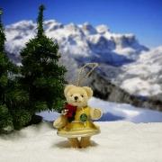 Weihnachtsglöckchen Teddybär von Hermann-Coburg