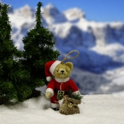 Classic Santa Teddy Bear by Hermann-Coburg