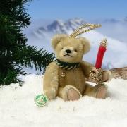 Kleines Weihnachtslicht 12,5 cm Teddybär von Hermann-Coburg