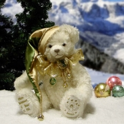 White Christmas Teddy Bear by Hermann-Coburg