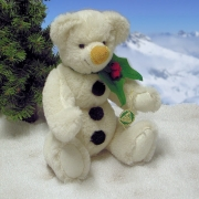 A snowman to smooch Teddy Bear by Hermann-Coburg