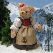 Christmas-Sophie 36 cm Teddy Bear by Hermann-Coburg