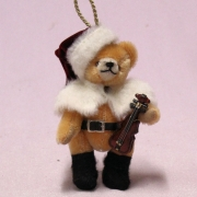 Little Christmas Musician 13 cm Teddy Bear by Hermann-Coburg