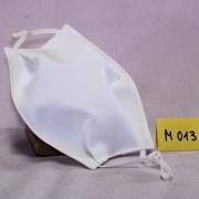 Wiederverwendbare Mund- und Nasen-Behelfsmaske aus weißen doppellagigem Baumwollstoff