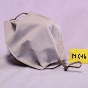 Wiederverwendbare Mund- und Nasen-Behelfsmaske dunkel beige aus doppellagigem Baumwollstoff