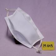Wiederverwendbare Mund- und Nasen-Behelfsmaske creme-weiß doppellagig Modacryl/Baumwolle/Modal Mischgewebe
