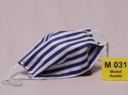 Wiederverwendbare Mund- und Nasen-Maske (Alltagsmaske)  Seebär  doppellagig mit verstellbaren Ohrschlaufen