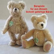 Teddybären Schnitt Benjamin Bär mit angeschnittener Schnauze und eingenähten Ohren