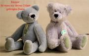 Teddybären Schnitt Friedolin Bär mit angeschnittener Schnauze und eingenähten Ohren