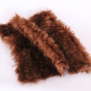Vintage langfloriger Haarplüsch Dunkel-braun 40 x 40 cm