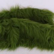 Vintage langfloriger Haarplüsch moos-grün 40 x 40 cm