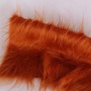 Vintage langfloriger Haarplüsch fuchsrot 40 x 40 cm