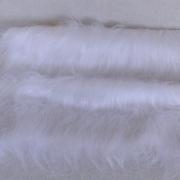 Vintage langfloriger Haarplüsch weiß 40 x 40 cm
