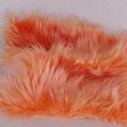 Vintage langfloriger Haarplüsch aprico 40 x 40 cm