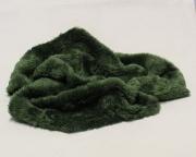 Vintage Teddy-Plüsch tannengrün 70 x 70 cm