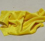 Vintage Teddy-Plüsch sonnen-gelb 70 x 70 cm