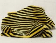 Vintage Teddy-Plüsch gelb-schwarz gestreift 70 x 70 cm