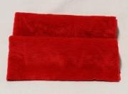 Vintage Teddy-Plüsch rot-matt 70 x 70 cm